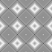 Geometric optical shapes pattern. - stock illustration