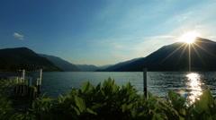 Beautiful dawn in the Como lake, Italy Stock Footage