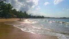 Waves waving the beach las terrenas, samana, domenican republic Stock Footage