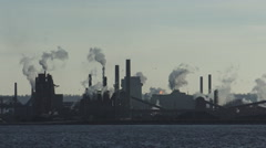 Industrial stack or smoke stack, Air Pollution Stock Footage