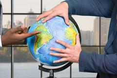 Global decisions being made. Stock Photos