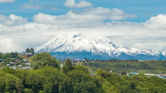Orsorno Volcano Close-up in Puerto Montt Chile Stock Footage