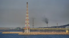 Gas towers of Algeria. Stock Footage