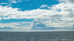 Cruising At Sea South American Moving Oceanscape Stock Footage