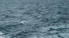 Dark Menacing Ocean Waves at Sea Stock Footage