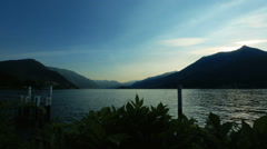 Amazing view of the lake Como, Italy in the evening time Stock Footage