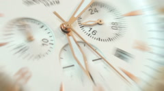 Close-up Timelapse of Clock. Time Flies Concept. - stock footage