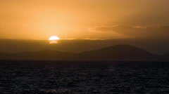 At Sea Stark Sunset Sunrise Close-up from Moving Ship Stock Footage
