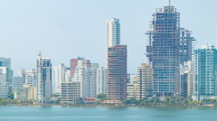 Cartagena Colombia Downtown City Buildings Close-up Stock Footage