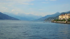 Wonderful view on the lake Como, Italy Stock Footage