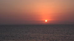 Amazing tropical sea sunset in Red sea Stock Footage