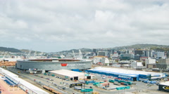Wellington NZ Westpac Stadium Wide Shot Stock Footage