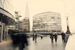 London, blurred city street, defocused background Stock Photos