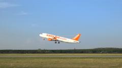 Easyjet  airplane take off Stock Footage