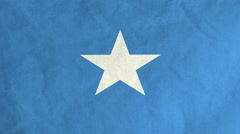 Somalian flag waving in the wind (full frame footage) Stock Footage