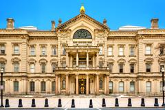 New Jersey State House on a sunny morning Stock Photos