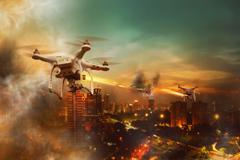 Drone Wars Concept Stock Photos