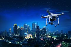 Small white drone Kuvituskuvat
