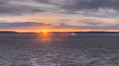 Tracking Time Desert Playa Dawn in vivid HDR Sunrise Stock Footage