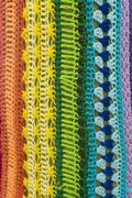 Yarn bombing, guerrilla knitting on a tree Stock Photos