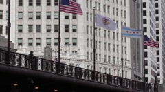 Michigan Ave Bridge Stock Footage