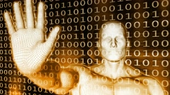 Stock Video Footage of Digital Security and Threat 4k Loop