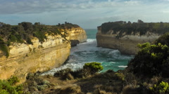 Lochard gorge, Port Campbell National Park Stock Footage