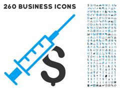 Narcotic Business Icon with Flat Vector Set - stock illustration
