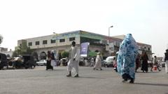 African city street view. Crossroads in Port Sudan - Sudan Stock Footage