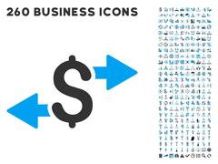 Spend Money Icon with Flat Vector Set Stock Illustration