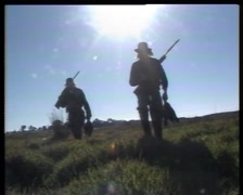 DUCK HUNTERS With Guns, (Archive Footage) Victoria Australia Late 1980s Stock Footage