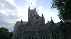 Amazing view of Southwark Cathedral in London Stock Footage