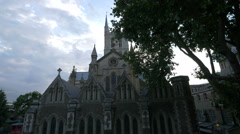 Great view of Southwark Cathedral in London Stock Footage
