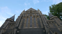 Low angle view of Southwark Cathedral in London Stock Footage