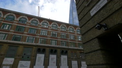 Shangri-La Hotel seen from Battle Bridge Lane in London Stock Footage
