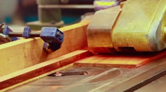 Planing machine wood. - stock footage