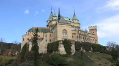 Bojnice tale castle - Slovakia, Bojnicky hrad - stock footage