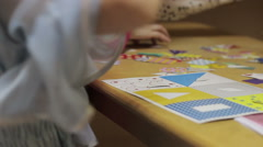 Children playing in kindergarten - stock footage