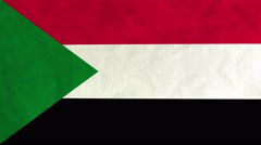 Sudanese flag waving in the wind (full frame footage) Stock Footage