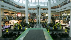 Shopping Mall Timelapse Escalator People - stock footage