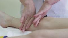 Children's foot massage Stock Footage