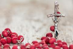 Stock Photo of Crucifix with selective focus