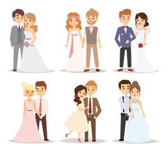 Wedding couple vector illustration - stock illustration