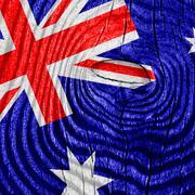 Australia flag - stock illustration