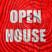 Open house sign Stock Illustration