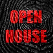 Open house sign - stock illustration
