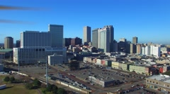 Aerial view of New Orleans, Louisiana Arkistovideo