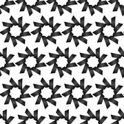 Seamless Black and White Abstract Pattern from Repetitive Trapezoids - stock illustration