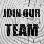 Join our team sign Stock Illustration