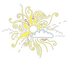 Stock Illustration of Sun rays ornament